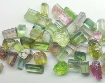 60 carats Amazing Party Color Faceting Grade Tourmaline Crystals From Afghan