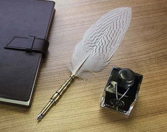 White Feather Quill Pen by Creoly