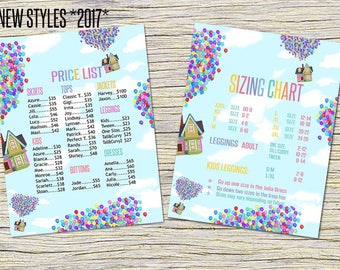 Price List and Size Chart - Home Office Approved Colors and Fonts - 18x24 inches and 8,5x11 inches -Mandala Design