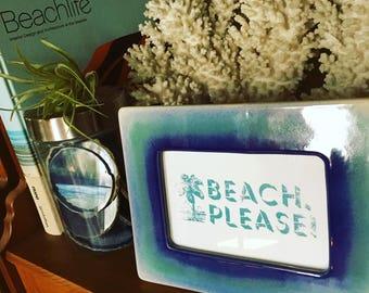 Beach, Please! Framed Print