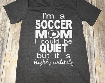 Soccer Mom Women's Unisex V-Neck T-Shirt