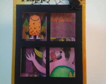 Halloween Card, Happy Halloween Card, Handmade Card, Handmade Halloween Card, Handmade Happy Halloween Card