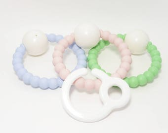 with Bell-silicone teething rattle