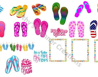 Summer Time -- Flip Flops - JPEG/PDF