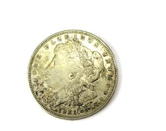 Antique 1921 D Morgan Silver Dollar