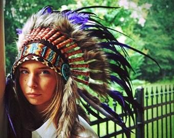 Gorgeous hand made Indian headress.