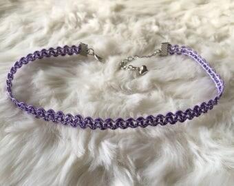 Purple wavy choker