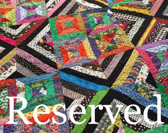 RESERVED For Sharon Thomas -Kaleidoscope quilt -