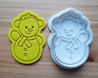 Snowman Girl Cookie Cutter and Stamp