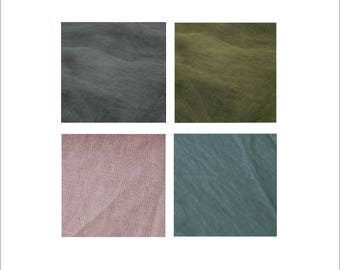 Samples of Linen Bedding Fabric,Samples of Wide Linen Fabric,Natural Linen Fabric Sampling,Softened Linen Swatches,Pure Linen Samples