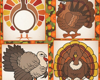 Thanksgiving Turkey layered SVG files, Turkey Svg files made for the cricut and other cutting machines