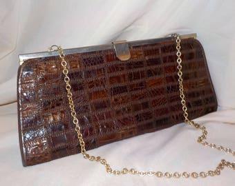 Vintage crocodile handbag
