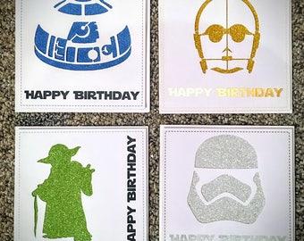 Star Wars inspired Birthday Cards