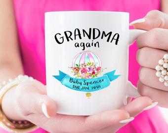 Grandma Mug, Grandma Gift, Grandma Again, Pregnancy Reveal, Coffee Mug, Baby Announcement, Grandma Coffee Mug, Personalized Mug, Custom Gift