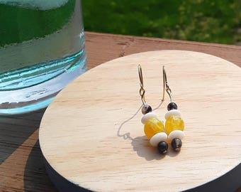 Yellow Agate drop earrings