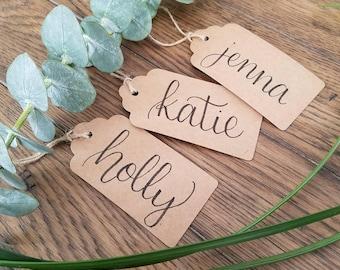 10 Kraft Custom Gift Tags, Personalized Gift Tags Wedding Favors Tags Custom Tags Bridal Shower Favor Tag Wedding Gift Tags Custom Favor Tag