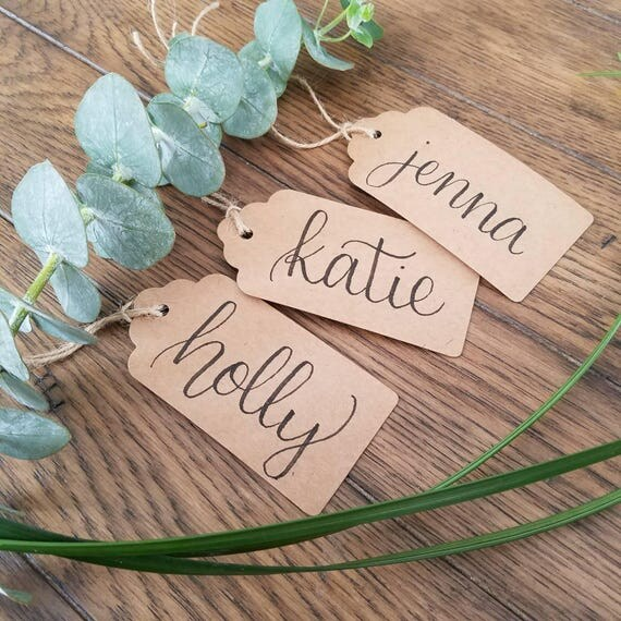 10 Kraft Custom Gift Tags Personalized Wedding Favors Bridal Shower Favor Tag From