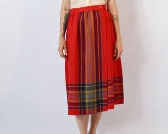 "Vintage 1970's Wool Blend Skirt Size 30"""