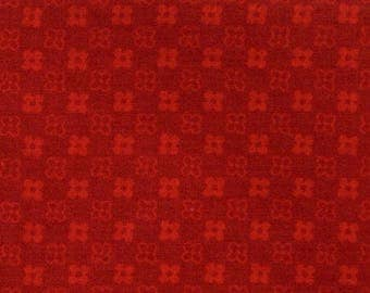 Red pattern fabric floral coupon 50 x 60 cm