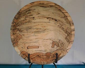 Hand Turned Spalted Maple Wood Bowl