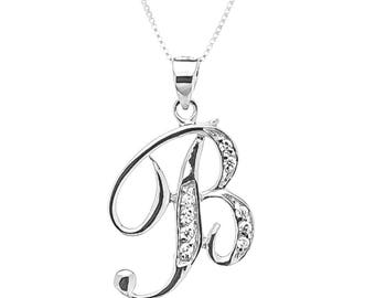 Sterling silver Monogram necklace B