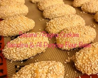 Sesame Regina Cookies  1 pound
