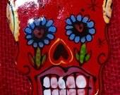 Handmade Tile Sugar Skull...