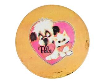 """3.5"""" Pals dog and cat pin"""