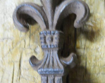 Huge Cast Iron FLEUR DE LIS Finial Garden Statue Home Decor Rustic Ranch  Saints