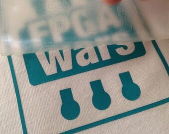 Design by FPGAwars DIY electronic textile vinyl for clothes of cotton and technical t-shirts.