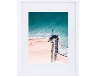 Beach Aerial Photo // Beach Print // Coastal wall print // Beach Photography // Ocean Photo // beach photo // ocean photography // Drone