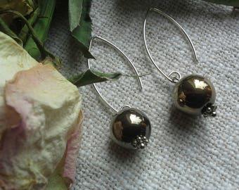 925 silver earrings golden hematite elegant earrings gift for her