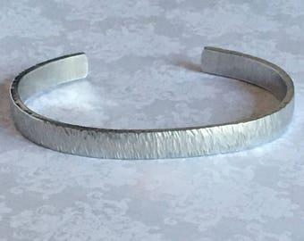 Textured finish Cuff Bracelet - stripes