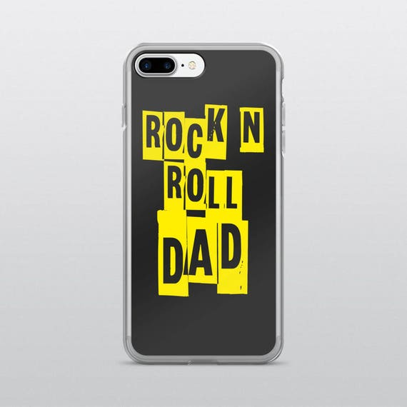 ROCK N ROLL DAD | iPhone Case (Black)