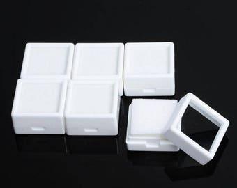 100 pcs 3x3 cm/ 30 x 30mm Plastic gem/diamond Storage boxes free shipping