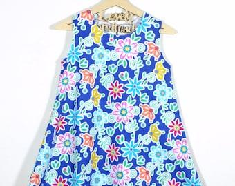 Handmade A Line One Piece Dress Bloom Dee Da Navy Michael Miller