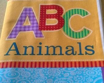 NEW ABC Animals Fabric Book