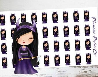 Princess Planner Stickers // Halloween // Devil