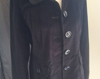 Talbots velvet women's suit black size 8