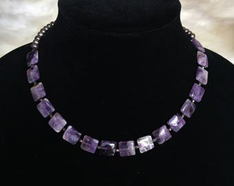 Amethyst and Freshwater Pearl Necklace