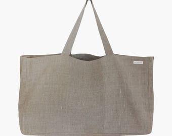 Pocket fria linen - shopper - Weekender - beach bag