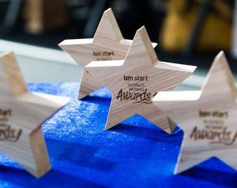 wooden star-star shape-rustic star-award star-personalized star-wooden award star-wooden ornament-engraved star-custom decor-eco