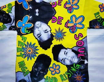 De La Soul 3 feet high and rising sublimation T shirt