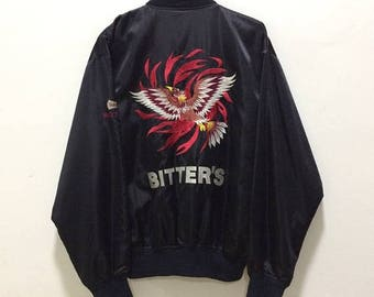BIG SALE Vintage Sukajan Bitters Embroidery Jacket Embroidery Souvenirs Punk Rock Jacket
