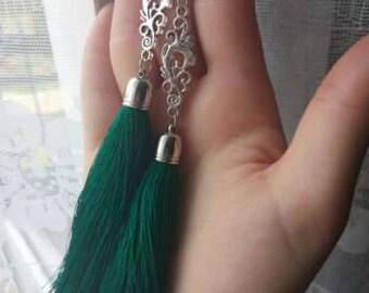 Silk Tassel Earrings, Серьги -кисти