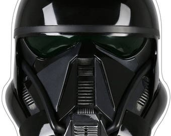 death trooper helmet etsy. Black Bedroom Furniture Sets. Home Design Ideas