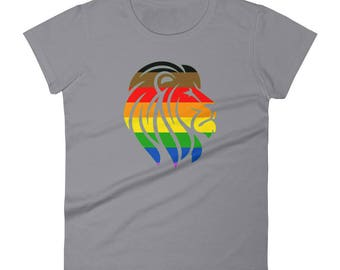 Philadelphia Pride Lion Women's short sleeve t-shirt lgbt lgbtqipa lgbtq mogai pride flag