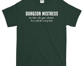 Dungeon Mistress Unisex Short-Sleeve T-Shirt dnd dungeons and dragons rpg, rpgs, roleplaying