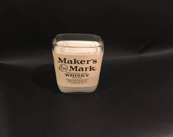 1 Liter vs 750ML Makers Mark Candle Bourbon Whiskey Soy Candle With/Without Base. Made To Order !!!!!!!