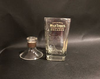 Wild Turkey Master's Keep Decades Bourbon Whiskey BOTTLE Soy Candle. 750ML. With/Without Attached Base.